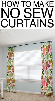 How to Make No Sew Curtains!
