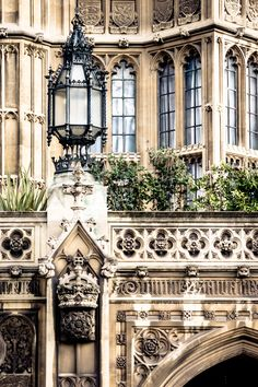 The beautiful architecture of the Palace of Westminster, London