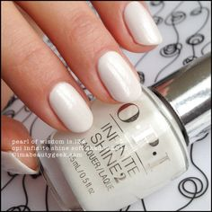 OPI Infinite Shine Pearl of Wisdom – Soft Shades 2015. Complete collection swatches & review at imabeautygeek.com