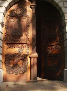 wooden door in Bratislava, Slovakia - Amy Barnett photo