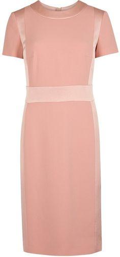 Paule Ka Blush satin-trimmed dress