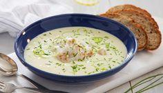 Ovnsbakt torsk med potet- og purresuppe Baked Cod and Potato-Leek Soup