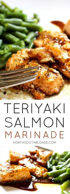 Inspired Salmon Marinade (Gluten-Free) A tasty teriyaki salmon recipe that's sweet enough to get your kids eating healthy. The marinade is super easy to make and involves only a few ingredients! Healthy Dinner Recipes, Cooking Recipes, Lunch Recipes, Appetizer Recipes, Breakfast Recipes, Kid Recipes Dinner, Vegetarian Recipes, Simple Recipes, Organic Recipes