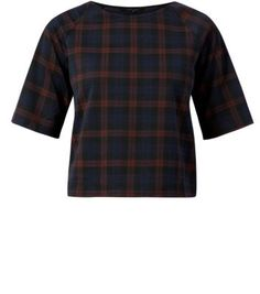 Red Check Boxy T-Shirt