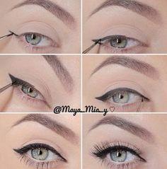 Cómo delinear el ojo de gato fácil y rápido ~ Manoslindas.com