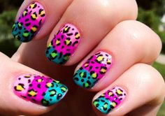 Neon Leopard Nails! Tons of tutorials!! Pin and read!