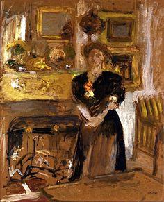 Portrait of Madame Marie des Jardins-Fontaine / Edouard Vuillard - circa 1901