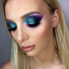 Colorful makeup from makeup lesson with 💜 model: beautiful Oliwia 💕💋 Makeup Geek, Eye Makeup, Makeup Lessons, Colorful Makeup, Makeup Looks, Halloween Face Makeup, Geek Stuff, Model, Beauty