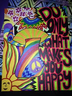 Psychedelic peace hippie art canvas painting, hand painted custom by rachael guenter trippy painting, Hippie Drawing, Hippie Painting, Trippy Painting, Diy Painting, Painting Canvas, Peace Painting, Psychedelic Drawings, Trippy Drawings, Mini Canvas Art