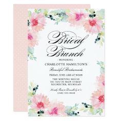 #bridal - #Bridal Brunch Invitations | Daisy Watercolor