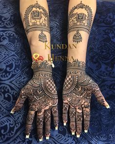 ideas for traditional bridal henna beautiful - Bridal Bouquets - Hand Henna Designs Palm Henna Designs, Unique Mehndi Designs, Wedding Mehndi Designs, Wedding Henna, Beautiful Henna Designs, Boho Wedding, Henna Tattoo Kit, Henna Tattoo Designs, Henna Tattoos