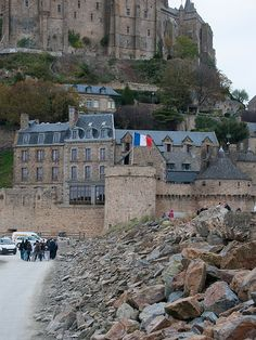 View of houses located in de Le Mont-Saint-MIchel in Basse-Normandie_ North France