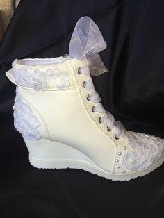 Wedding Shoes Wedge Sneakers Bridal Shoe