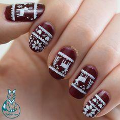 Nailzini: A Nail Art Blog: Christmas Sweater Nail Art