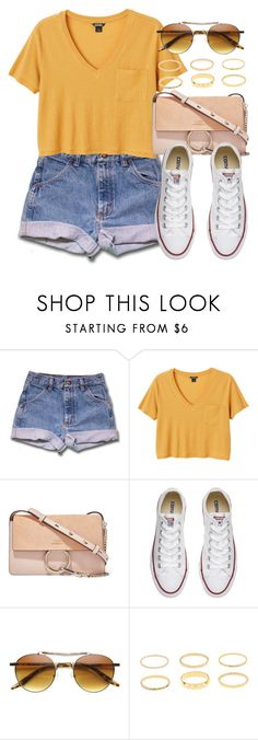 """Sin título #13240"" by vany-alvarado ❤ liked on Polyvore featuring Monki, Chloé and Converse"