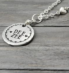 Delta Zeta Necklace Dee Zee Necklace Stamped by PureImpressions