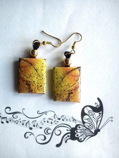 BOUCLES D'OREILLES UNIQUE PENDANTE PERLE ETHNIQUE : Boucles d'oreille par bijoux-bambou
