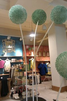 Interesting Anthropologie Flowers....made from q-tips!  Love the large scale