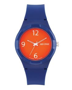 Love this navy and orange color combo watch