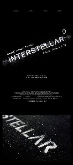 INTERSTELLAR poster design Chalk, Photoshop