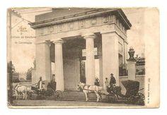 RARO Cartão Postal Tipográfico: São Paulo - Entrada do Cemitério da Consolação. MBC.