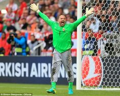EURO 2016 DIARY: Hungary keeper Gabor Kiraly was not about to change the habit of a lifetime. The once again donned his lucky baggy grey tracksuit bottoms against Austria. Uefa European Championship, European Championships, 2016 Diary, Strikes Again, Tracksuit Bottoms, Sports Pictures, Football Fans, Goalkeeper, Hungary