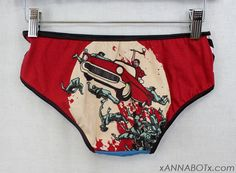 Small  Zombie Killer  Low Rise Panties Knickers by xannabotx, $12.00