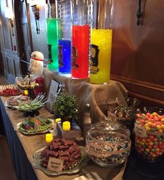 Honeydukes Sweets Bar - Harry Potter Themed Wedding