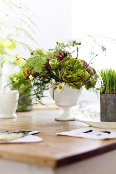 Photography: Rikki Snyder - rikkisnyder.com Floral Design: Dana Worlock - www.danaworlockdesign.com/   Read More on SMP: http://www.stylemepretty.com/living/2014/03/27/mint-melon-salad/