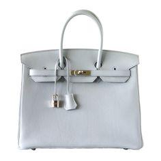 Hermes Birkin Bag 35 Exquisite Bleu Pale Palladium Hardware   World's Best #hermes