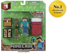 Minecraft Core Player Survival Pack Action Figure, Brand New Free Shipping #Minecraft