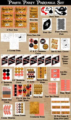Pirate Party Set  Pirate Party Printable  by KandKDesignworks, $22.50