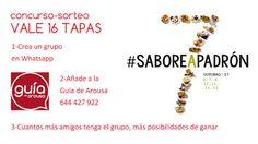 Concurso-sorteo 16 tapas #SaboreaPadrón _agenda _evento @galiciaesmas @Padron_Turismo 2017 anuncio arousa gastro octubre padron