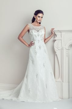 Nana - Bateau neckline, a-line dress is figure flattering for all body types. Its elegant and simple bead work keep the attention on the bride without taking away from her natural beauty. White Wedding Dresses, Wedding Gowns, Formal Dresses, Bateau Neckline, Boat Neck, Body Types, Natural Beauty, Bead, Elegant