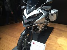 Ducati, a company known for sport bikes, ventures into unpaved adventure-touring territory with its new 2016 Multistrada 1200 Enduro. Ducati Enduro, Ducati Multistrada 1200, Sport Bikes, Golf Bags, Touring, Adventure Travel, Motorcycle, Vehicles, Motorbikes
