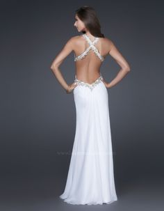 #LaFemme 16288 white prom dress #prom #promdress #lowback #FormalApproach