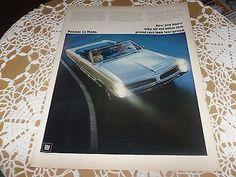VINTAGE ADVERTISING AUTOMOBILE PONTIAC LE MANS 1960'S