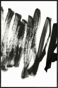 Black On White als Poster in kunststof lijst | JUNIQE