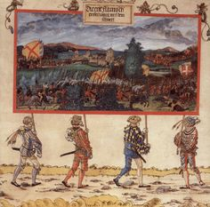 Artist: Albrecht Altdorfer Title: Triumphzug Kaiser Maximilians, Entwurf zu »Der Sieg über Lüttich«.  Date: 1513-1515