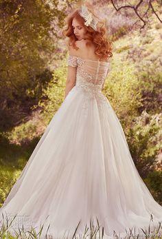 maggie sottero spring 2017 bridal off the shoulder wrap sweetheart neckline heavily embellished bodice romantic princess a  line wedding dress chapel train (iris) bv