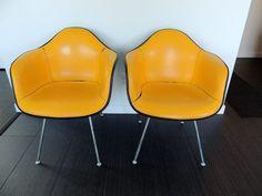 eames fiberglass chair restore herman miller refinish // DIY eames shellchair redo