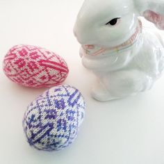 Nordic Easter Egg knitting pattern by Mary Ann Stephens - the cutest easter eggs for your home! Downloadable PDF knitting pattern available at LoveKnitting