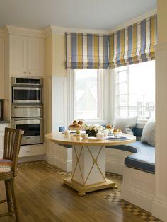 Dining Round Bay Window Seat Part 3 - Breakfast Nook Window Seat Window Seat Kitchen, Kitchen Nook, Window Seats, Kitchen Dining, Kitchen Seating, Kitchen Chairs, Kitchen Cabinets, Small Dining, Round Dining