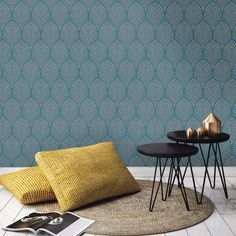 Gatsby Art Deco Wallpaper Teal - Holden Decor 65253 Metallic Sheen for sale online Geometric Wallpaper Design, Glitter Wallpaper, Teal Feature Wallpaper, Art Deco Wallpaper, Retro Wallpaper, Room Wallpaper, Pattern Wallpaper, Teal Wallpaper For Living Room, Home
