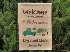 Ready to Ship Welcome to our Camper by HappyCamperWorld on Etsy