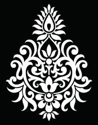 Find Traditional Indian Motif stock images in HD and millions of other royalty-free stock photos, illustrations and vectors in the Shutterstock collection. Stencil Patterns, Stencil Designs, Damask Stencil, Stencil Painting, Fabric Painting, Folk Embroidery, Embroidery Patterns, Indian Embroidery Designs, Motif Design
