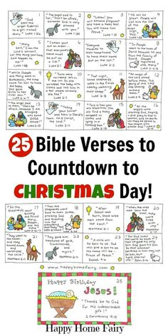 Bible Verse Advent Countdown for Kids - FREE Printable 25 Bible Verses to countd., Verse Advent Countdown for Kids - FREE Printable 25 Bible Verses to countdown to Christmas with kids! Each card is written with a short and simp. Christmas Countdown, Countdown For Kids, Christmas Post, A Christmas Story, Christmas Holidays, Christmas Traditions Kids, Advent Calendar Kids, Advent Calendar Christian, Christmas Stories For Kids