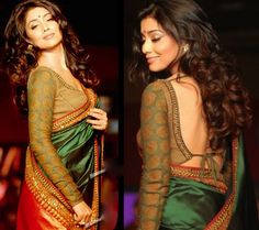 Shriya certainly can carry off any saree  in style!!