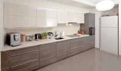 Ikea Kitchen Design, New Kitchen Designs, Modern Kitchen Design, Home Decor Kitchen, Kitchen Interior, Kitchen Cabinet Styles, Modern Kitchen Cabinets, Kitchen Layout Plans, Open Plan Kitchen Living Room
