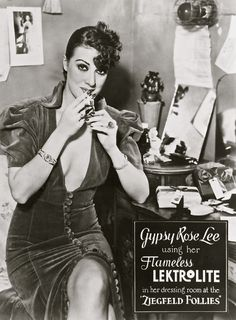 Gypsy Rose Lee (January 9, 1911 – April 26, 1970) was an American burlesque entertainer famous for her striptease act. She was also an actress, author, and playwright whose 1957 memoir was made into the stage musical and film Gypsy. Louise's sister, was actress June Havoc.